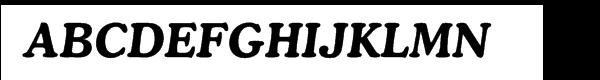 Cooper Multilingual Bold Italic  Frei Schriftart Herunterladen