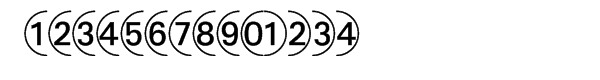 Deconumbers Pi™ #1 (Circle)  Free Fonts Download