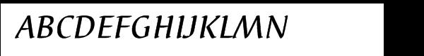 EF Elysa Medium Italic  Free Fonts Download