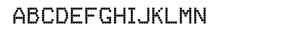FF Dot Matrix One Regular  Free Fonts Download