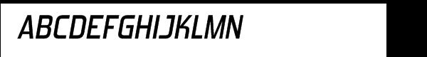 Forgotten Futurist Semi Bold Italic  Free Fonts Download