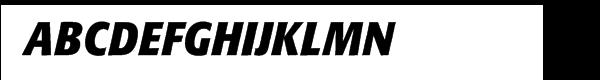 Formata Bold Condensed Italic  免费字体下载