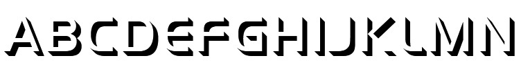 Handel Gothic Only Shadow Light  Free Fonts Download