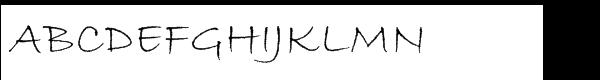 ITC Bradley Hand™ Std Regular  Free Fonts Download