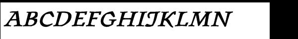 """ITC Oldrichiumâ""""¢ Std Demi Italic  les polices de caractères gratuit télécharger"""