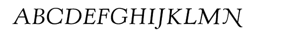 LTC Kennerley Italic  Free Fonts Download