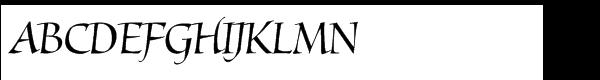Mantegna Std Italic  Скачать бесплатные шрифты