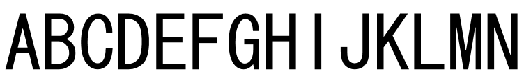 MS Gothic - Japanese  Free Fonts Download