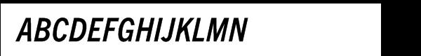 Trade Gothic Next® Pro Condensed Bold Italic  नि: शुल्क फ़ॉन्ट्स डाउनलोड